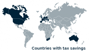 Countries with tax savings